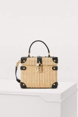 Dolce & Gabbana Dolce Box straw bag