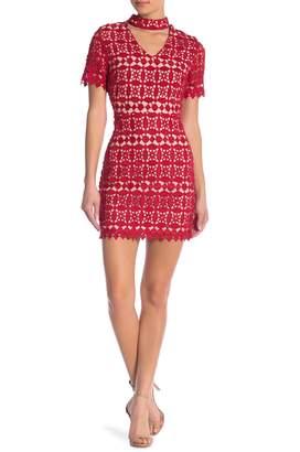 J.o.a. Lace Choker Dress