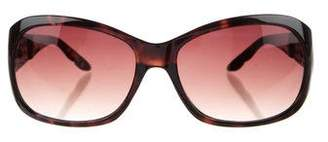 Oscar de la Renta Oversize Tortoiseshell Sunglasses