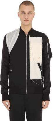 Rick Owens Embroidered Wool & Viscose Bomber Jacket