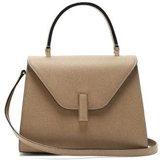Valextra Iside Medium Grained Leather Bag - Womens - Beige