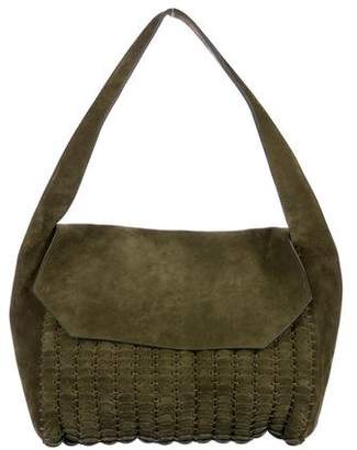 Paco Rabanne Suede Large Shoulder Bag
