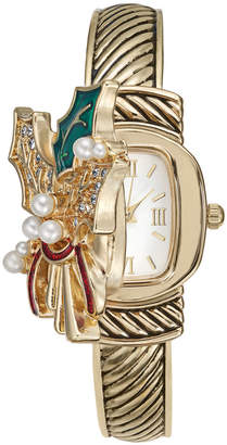 Charter Club Women's Gold-Tone Holly Bracelet Watch 25mm, Created for Macy's