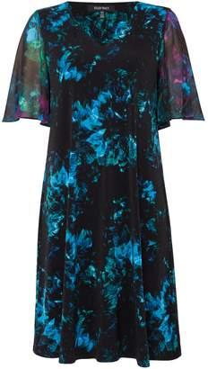 Ellen Tracy FLutter sleeve printed shift dress