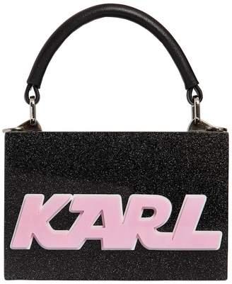 Karl Lagerfeld K/Sporty Glittered Box Clutch