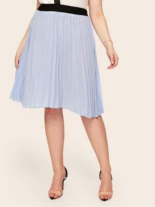 b2dedeb526 Elastic Waist Pleated Skirt - ShopStyle