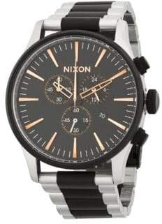 Nixon Stainless Steel Stripe Bracelet Watch