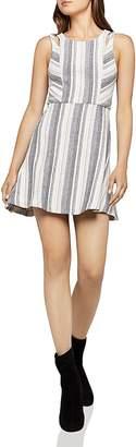 BCBGeneration Cutout Striped Jacquard Dress