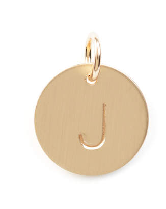 Nashelle J Initial Disc Necklace Charm