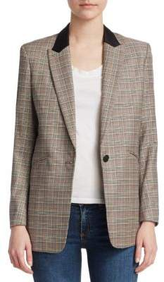 Rag & Bone Ridley Plaid Blazer