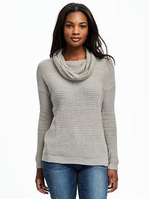 Stitchy Cowl-Neck Pullover for Women $42.94 thestylecure.com
