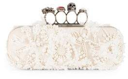 Alexander McQueen Four-Ring Leather Box Clutch