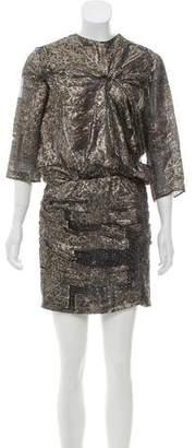 Isabel Marant Knee-Length Metallic Dress