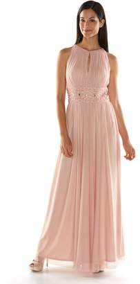 Jessica Howard Beaded Halter Evening Gown - Women's $180 thestylecure.com
