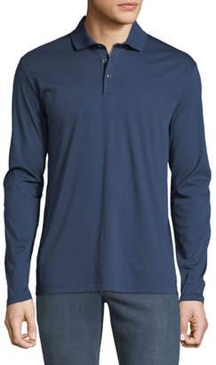 BOSS Men's Jersey Long-Sleeve Polo Shirt