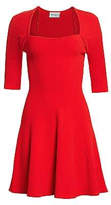 Milly Women's Rib-Knit Fit & Flare Dress
