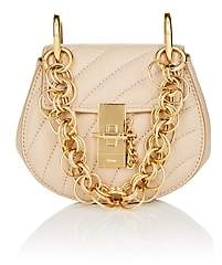 Chloé Women's Drew Mini Leather Crossbody Bag - Beige, Tan