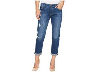 7 For All Mankind Josefina w/ Destroy in Barrier Reef Broken Twill Women's Jeans