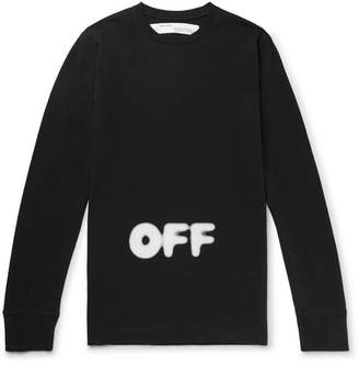 Off-White Off White KidMoGraph Logo-Print Cotton-Jersey T-Shirt - Men - Black