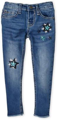 Vigoss Girls 4-6x) Sequin Star Ankle Skinny Jeans
