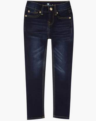 "7 For All Mankind Girls 4-6X ""The Skinny"" 5-Pocket Stretch Denim Jeans in Tried & True"