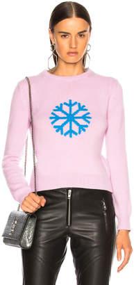 Alberta Ferretti Snowflake Crewneck Sweater