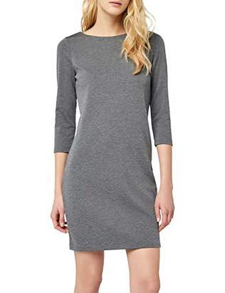 Vila Women's 14033863 Shirt Crew Neck 3/4 Sleeve Dress - Grey - 14