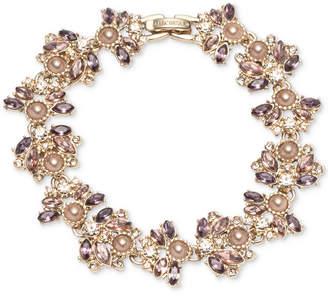 Marchesa Crystal & Imitation Pearl Cluster Flex Bracelet