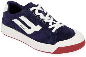 Bally Men's New Competition Suede Retro Low-Top Sneakers