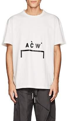 A-Cold-Wall* Men's Logo-Print Cotton T-Shirt - White