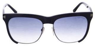 Tom Ford Thea Oversize Half-Rim Sunglasses