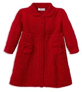 Ralph Lauren Girls' Aran-Knit Wool Sweater Coat - Baby