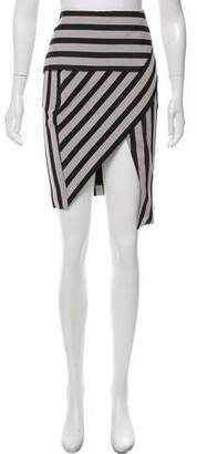Mason Stripe Knee-Length Skirt
