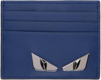 Fendi Blue Bag Bugs Plaque Card Holder $250 thestylecure.com
