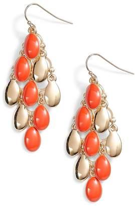 Halogen Enamel Petal Chandelier Earrings