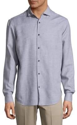 Black & Brown Black Brown Textured Dobby Shirt
