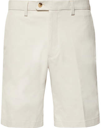Dunhill Links - Slim-Fit Twill Golf Shorts - Ecru