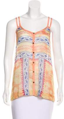 Free People Sheer Sleeveless Blouse