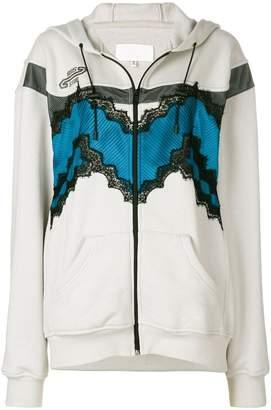 Maison Margiela lace detail jacket