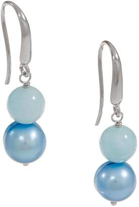 Honora Cultured Pearl & Gemstone Bead Earrings, Sterling Silver