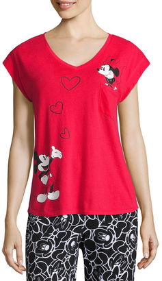 DISNEY Disney Short Sleeve Pajama Top-Juniors $22 thestylecure.com