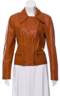 Hermes Asymmetric Zip Leather Jacket