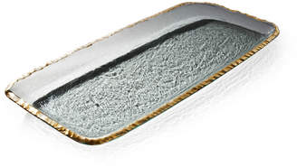Annieglass Edgey Gold Party Tray