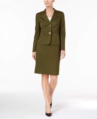 Le Suit Crosshatch Two-Button Skirt Suit $200 thestylecure.com