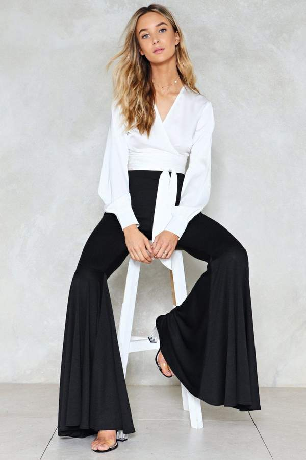 nastygal Taking Flare of Business High-Waisted Pants