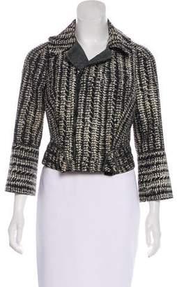 Zac Posen Asymmetrical Pattern Jacket