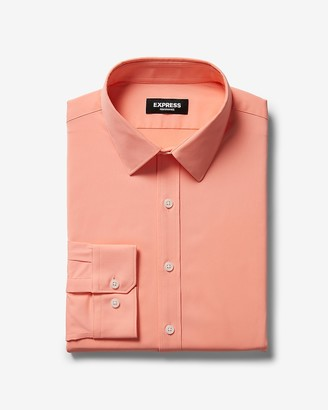 Express Extra Slim Solid Wrinkle-Resistant Performance Dress Shirt