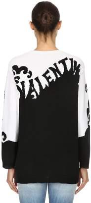 Valentino (ヴァレンティノ) - VALENTINO インターシャロゴ カシミアニットセーター