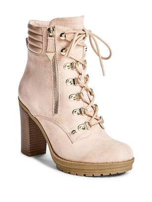 Factory Guess Women's Grove Heeled Combat Booties