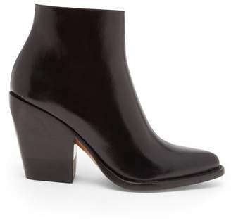 Chloé Rylee Leather Boots - Womens - Black